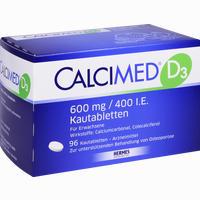 Calcimed D3 600mg/400 I.e. Kautabletten  96 Stück