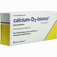 Calcium-d3-biomo Brausetabletten   40 Stück