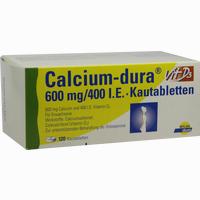 Abbildung von Calcium- Dura Vit D3 600mg/400 I.e. Kautabletten 120 Stück