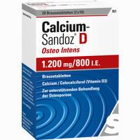 Calcium-sandoz D Osteo Intens 1200mg/800 I.e. Brausetabletten 20 Stück