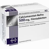 Abbildung von Calciumacetat- Nefro 500mg Filmtabletten 200 Stück