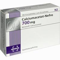 Abbildung von Calciumacetat- Nefro 700mg Filmtabletten 100 Stück