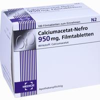 Abbildung von Calciumacetat- Nefro 950mg Filmtabletten 100 Stück
