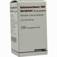 Abbildung von Calciumcarbonat 500 Sertürner Kautabletten  100 Stück