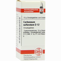 Carboneum Sulfur D12  Globuli 10 g