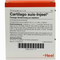 Abbildung von Cartilago Suis-injeel Ampullen  10 Stück