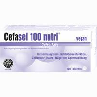 Cefasel 100 Nutri Selen-tabs  Tabletten 100 Stück