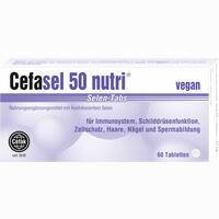 Cefasel 50 Nutri Selen-tabs  Tabletten 60 Stück