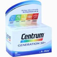 Centrum Generation 50+ A-zink + Floraglo Lutein  Tabletten 30 Stück