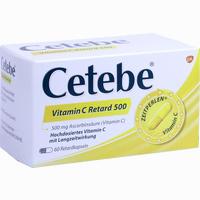 Cetebe Vitamin C Retard 500  Retardkapseln 60 Stück