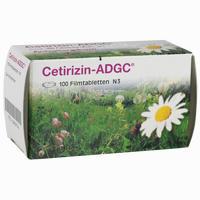 Cetirizin-Adgc Filmtabletten 100 Stück