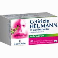 Cetirizin Heumann 10 Mg Filmtabletten   100 Stück