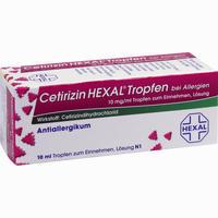 Abbildung von Cetirizin Hexal Tropfen bei Allergien 10 ml