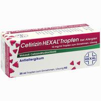 Abbildung von Cetirizin Hexal Tropfen bei Allergien 20 ml