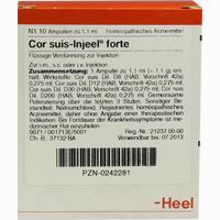 Cor Suis-injeel Forte Ampullen  10 Stück