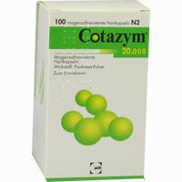 Abbildung von Cotazym 20.000 Kapseln  100 Stück