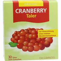 Cranberry Cerola-taler Grandel  32 Stück