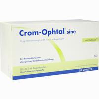 Abbildung von Crom Opthal Sine Augentropfen Einzeldosis- Pipetten Einzeldosispipetten 50 x 0.5 ml