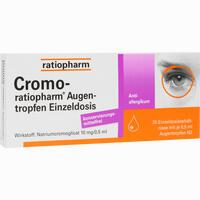 Cromo Ratiopharm Einzeldosis  Augentropfen 20X0.5 ml