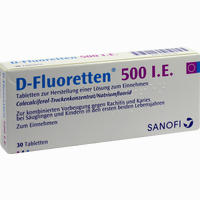 Abbildung von D- Fluoretten 500 Tabletten 30 Stück
