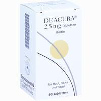 Abbildung von Deacura 2.5mg Tabletten 50 Stück