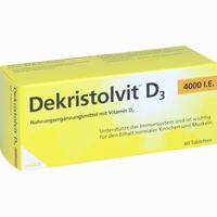 Abbildung von Dekristolvit D3 4000 I.e. Tabletten 60 Stück