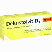 Abbildung von Dekristolvit D3 5600 I.e. Tabletten 30 Stück