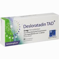 Abbildung von Desloratadin Tad 5mg Filmtabletten  20 Stück