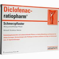 Abbildung von Diclofenac- Ratiopharm Schmerzpflaster  5 Stück
