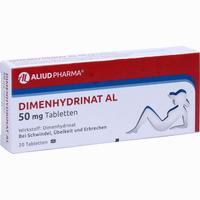 Abbildung von Dimenhydrinat Al 50 Mg Tabletten  20 Stück