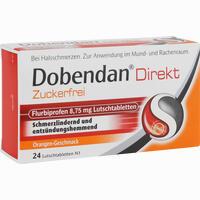 Abbildung von Dobendan Direkt zuckerfrei Flurbiprofen 8.75mg Lutschtabletten 24 Stück