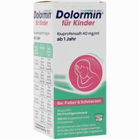 Abbildung von Dolormin für Kinder Ibuprofensaft 40 Mg/ml Suspension 100 ml