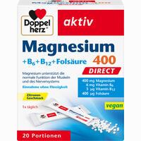 Doppelherz Magnesium + B Vitamine Direct  Pellets 20 Stück