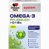 Abbildung von Doppelherz Omega- 3 Pflanzlich System Kapseln 60 Stück