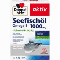 Doppelherz Seefischöl Omega-3 1000mg + Folsäure  Kapseln 60 Stück
