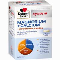 Abbildung von Doppelherz System Magnesium+calcium+kupfer U Manga Tabletten 60 Stück