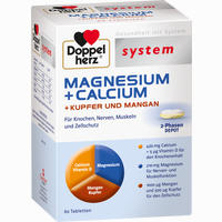 Abbildung von Doppelherz System Magnesium + Calcium + Kupfer und Mangan Tabletten 60 Stück
