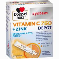 Abbildung von Doppelherz Vitamin C 750 Depot System Pellets 20 Stück