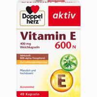Doppelherz Vitamin E 600n Kapseln 40 Stück