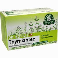 Dr. Kottas Thymiantee Mit Spitzwegerich Und Eukalyptus Filterbeutel 20 Stück