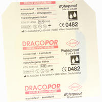 Dracopor Waterproof Wundverband Steril 8cmx10cm   1 Stück