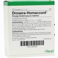 Drosera Homaccord  Ampullen 10 Stück