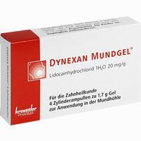 Abbildung von Dynexan Mundgel Zylinderampullen  4 x 1.7 g