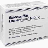Abbildung von Eisensulfat Lomapharm 100mg Filmtabletten 100 Stück