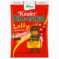 Em-eukal Kinder Lolly Wildkirsche Zfr  Bonbon 80 g
