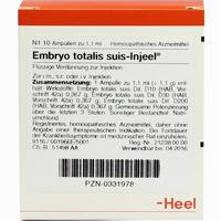 Embryo Totalis Suis-injeel Ampullen  10 Stück