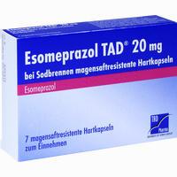 Abbildung von Esomeprazol Tad 20mg bei Sodbrennen Kapseln 7 Stück