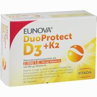 Abbildung von Eunova Duoprotect D3+k2 2000ie/80ug Kapseln 30 Stück