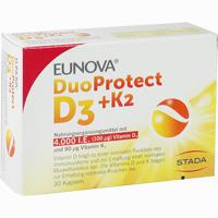 Abbildung von Eunova Duoprotect D3+k2 4000ie/80ug Kapseln 30 Stück