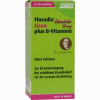 Abbildung von Floradix Eisen Plus B- Vitamine Kapseln 40 Stück